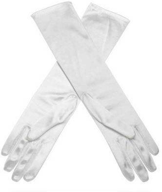 Debut Ivory elbow length evening gloves