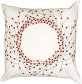 """Rizzy Home Cotton Duck/Felt Wreath Pillow, 18"""" x 18"""""""
