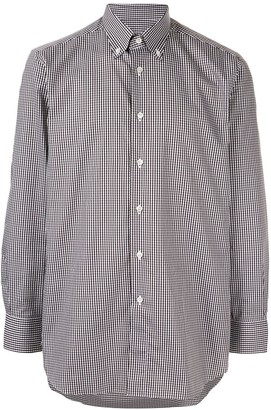 Brioni Check Button-Down Shirt