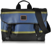 Paul Smith Color Block Cotton w/Leather Trim Men's Messenger Bag