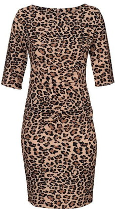 Carolina Cavour Animal Print Dress With Lateral Gather