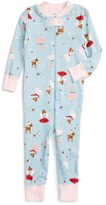 Hanna Andersson Holiday Print Organic Cotton Fitted One-Piece Pajamas (Baby Girls)