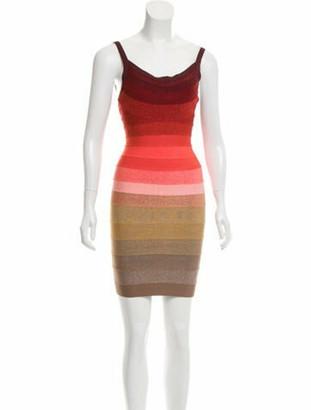 Herve Leger Babette Bandage Dress Coral