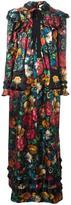 Gucci floral print ruffled dress - women - Silk - 40