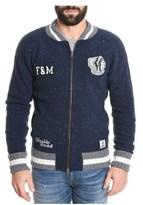 Franklin & Marshall Men's Blue Wool Sweatshirt.
