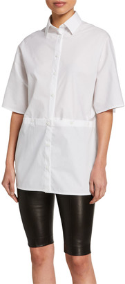 Rosetta Getty Cotton Short-Sleeve Shirt