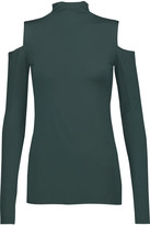 Bailey 44 Cutout stretch-jersey turtleneck top