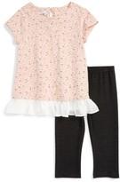 Toddler Girl's Pippa & Julie Daisy Print Top & Leggings Set