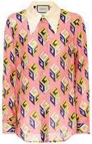 Gucci Printed jacquard shirt