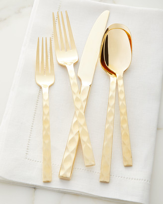 Hampton Forge 20-Piece Epigram Gold Flatware Set