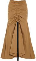Ellery Dollface Ruched Faille Maxi Skirt