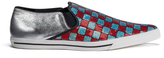 Marc Jacobs Women's Delancey Sequins Embroidered SlipOn Trainers - Aqua/Red