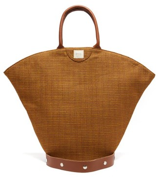 Gabriel For Sach - Tulip Leather-trim Organic-cotton Canvas Tote Bag - Brown