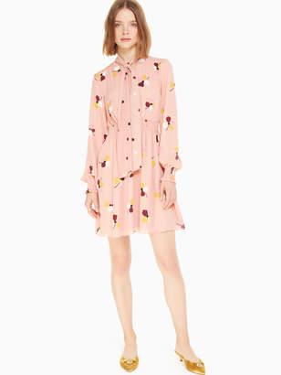 Kate Spade dusk buds print mini dress