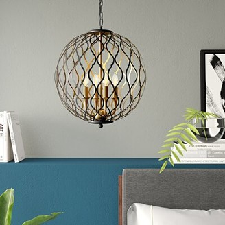 Everly Quinn Fianna 4 - Light Lantern Globe Pendant