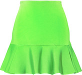 Issa Arabella neon stretch-knit mini skirt