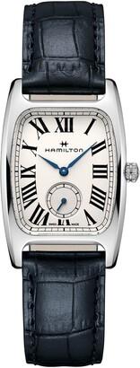 Hamilton American Classic Leather Strap Watch, 27mm x 32mm