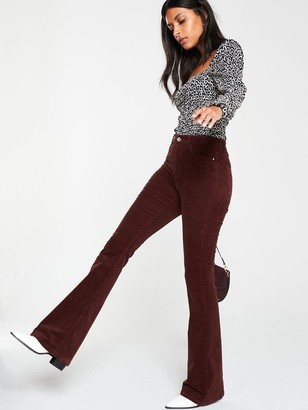 Very Cord Flare Trouser - Oxblood