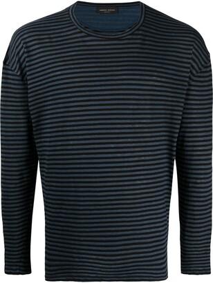 Roberto Collina striped print T-shirt