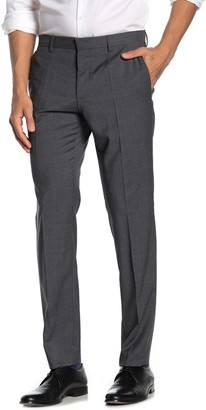 BOSS Gray Sharkskin Flat Front Virgin Wool Slim Fit Suit Separates Pants