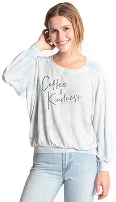 good hYOUman Emerson Coffee and Kindness Pullover (Hurricane Tie-Dye) Women's Clothing