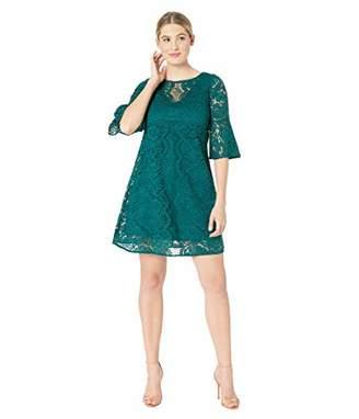 Gabby Skye Women's 3/4 Sleeve Round Neck Lace Sheath Dress