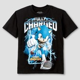 Boys' Sonic Fully Charged T-Shirt - Black