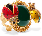 Dolce & Gabbana Gold-plated, Crystal And Enamel Ring - 52