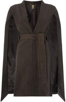 Biba Wool Blend Cape Coat Khaki 8