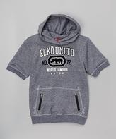 Ecko Unlimited Charcoal Short-Sleeve Hoodie - Boys