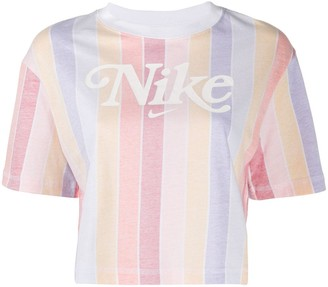 Nike striped-print cropped T-Shirt