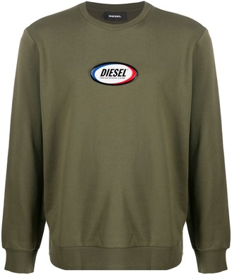 Diesel Logo-Patch Sweatshirt