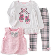 Kids Headquarters 3-Pc. Faux-Fur Vest, Top & Leggings Set, Baby Girls (0-24 months