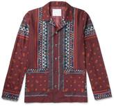Sacai Camp-Collar Printed Voile Shirt