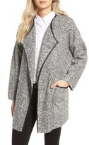 Astr Women's Drape Front Sweater Jacket