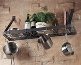 Rogar Pot Rack - Wall - Shelf - Black