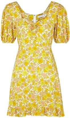 Faithfull The Brand Agathe floral-print rayon mini dress