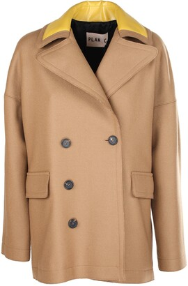 Plan C Double-Breasted Peacoat