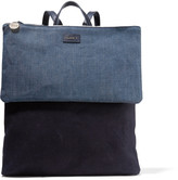 Clare Vivier Agnes denim and canvas backpack