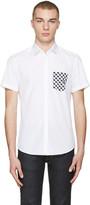 Kenzo White Contrast Pocket Shirt