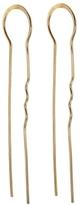 Melissa Joy Manning Large Hairpin Hoop - Yellow Gold