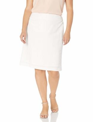 Kasper Women's Plus Size Linen Slim Skirt