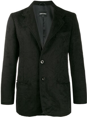 Giorgio Armani Pre-Owned 1990s textured jacket
