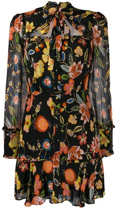 Alexis tie neck floral print dress