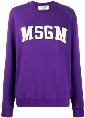 MSGM College Logo Print Sweatshirt