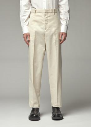 Jil Sander Men's Tech Drill Trouser Pants in Cream White Size 46 Polyester/Cotton