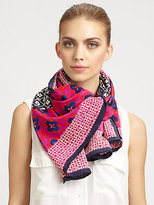 Tory Burch Isabelle Silk MIx Scarf