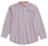 Izod Big and Tall Checkered Pocket Sport Shirt