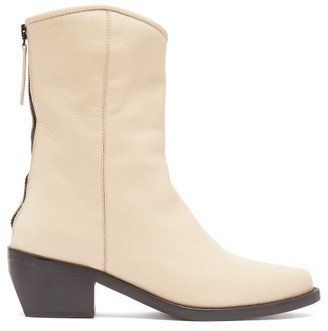 Legres - Leather Western Boots - Womens - Nude
