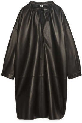 Arket Leather Tunic Dress